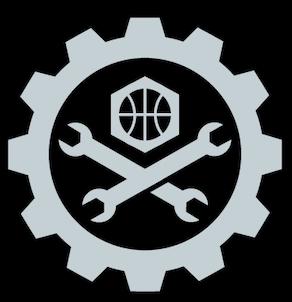 NBA Detroit Pistons Alternate Hard Work Logo.