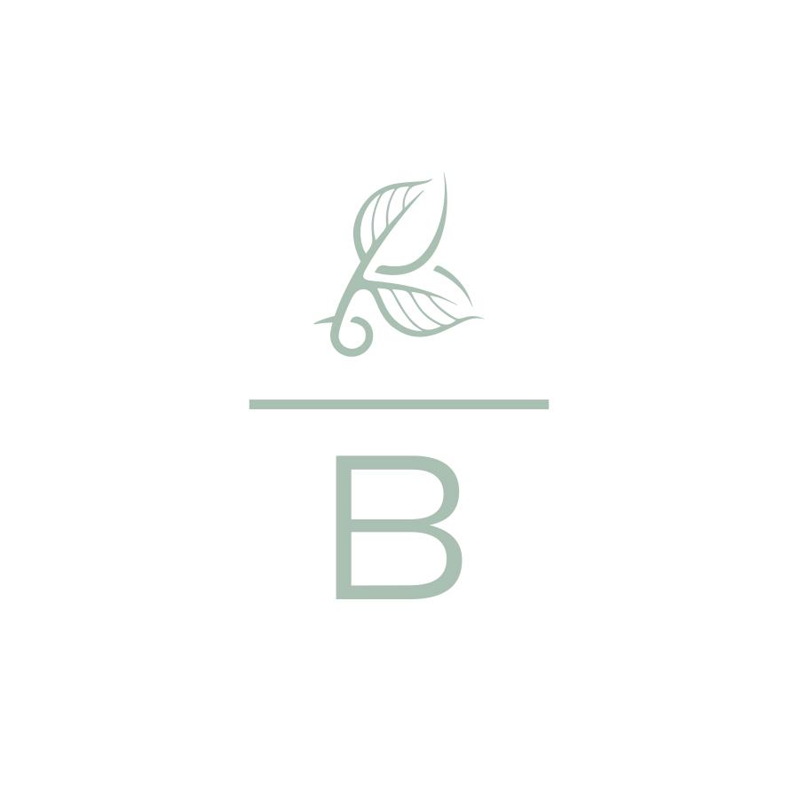 Buds Brandmark B Mark logo design by logo designer Lisa Gorham Creative