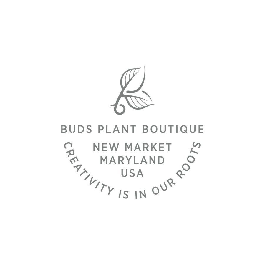 Buds Creativity Is In Our Roots Mark logo design by logo designer Lisa Gorham Creative
