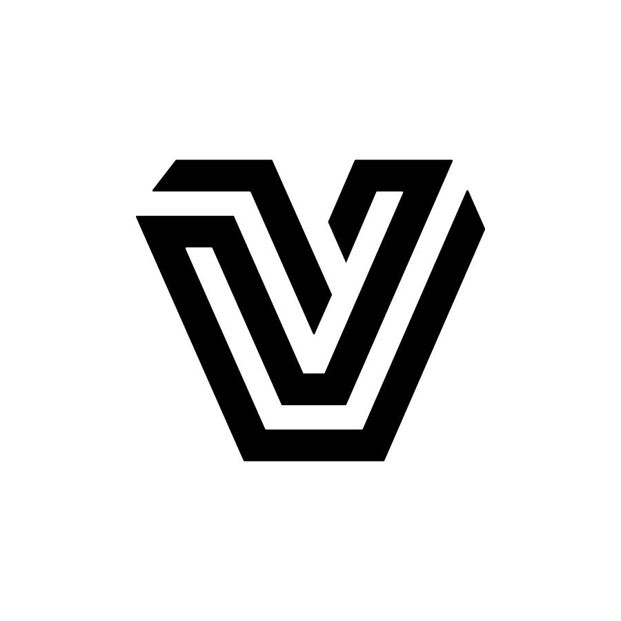 V logo design by logo designer monome