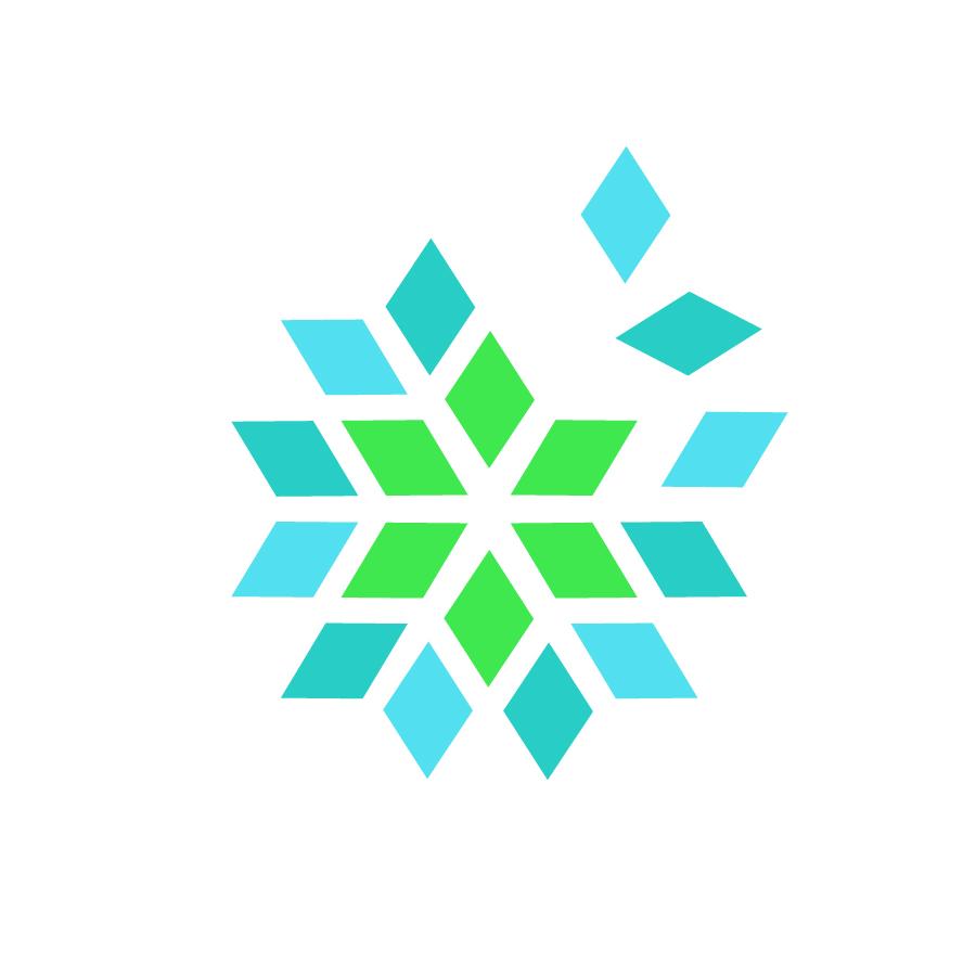 snowflake logo design by logo designer monome