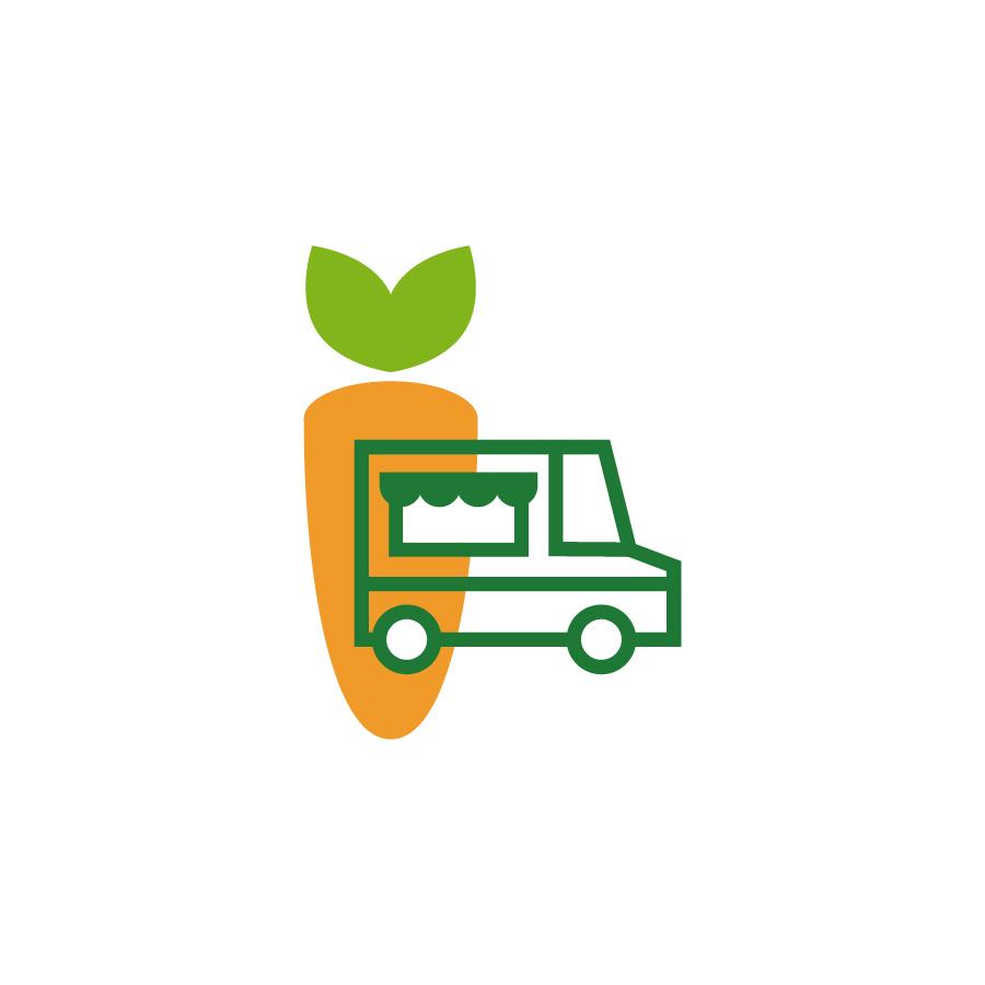 the veggie truck logo design by logo designer spoonlancer