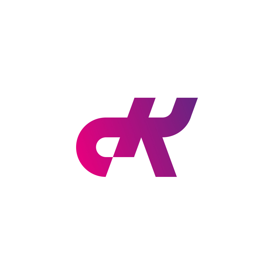 dk-monogram logo design by logo designer Damian Kidd