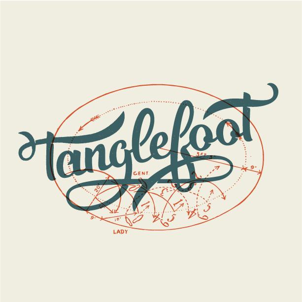Tanglefoot_Script logo design by logo designer T.Barnes Graphics