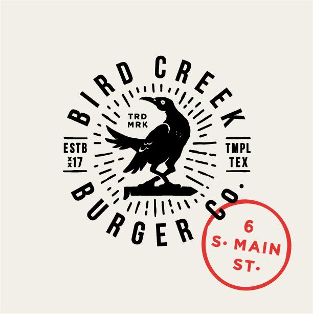 Bird Creek Burger Co. | Secondary Mark logo design by logo designer T.Barnes Graphics