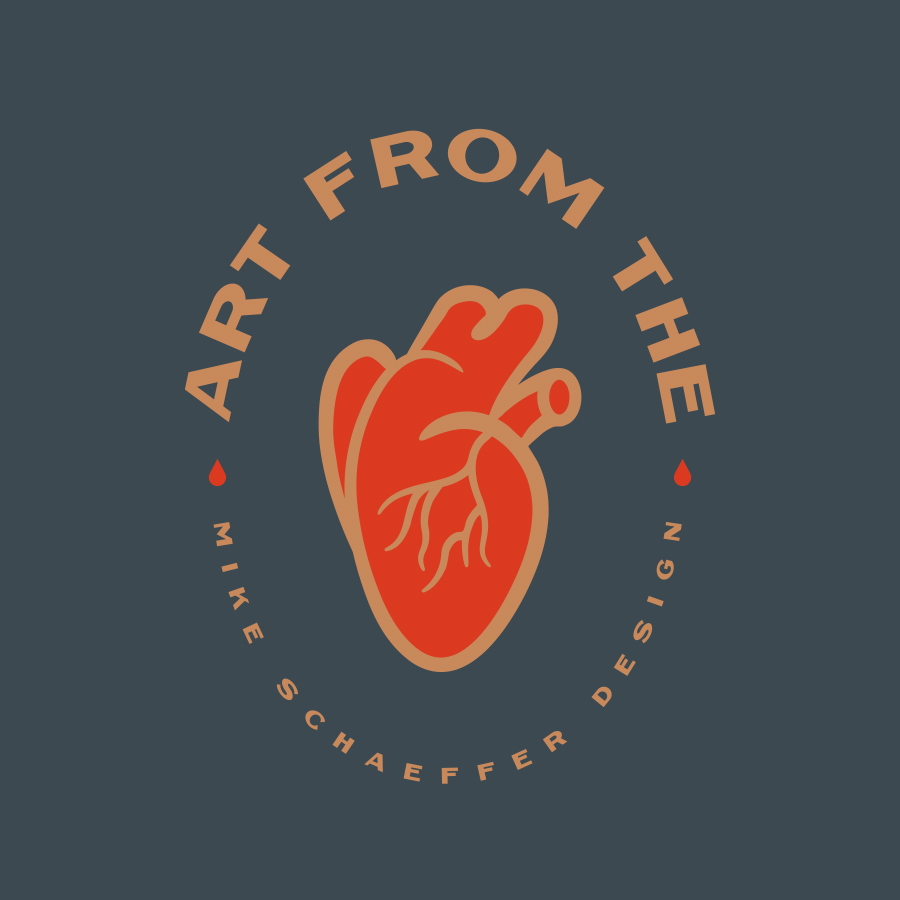 Art From the Heart logo design by logo designer Mike Schaeffer Design for your inspiration and for the worlds largest logo competition