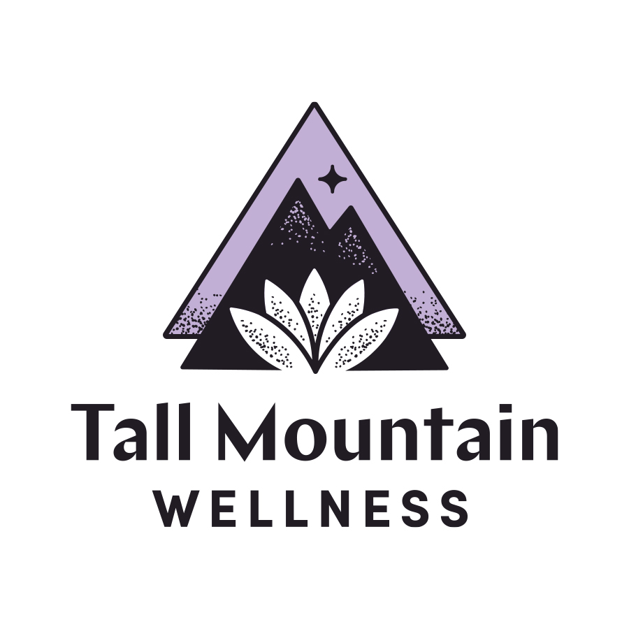 Tall Mountain Wellness Full Logo logo design by logo designer Pretty Useful Co. for your inspiration and for the worlds largest logo competition