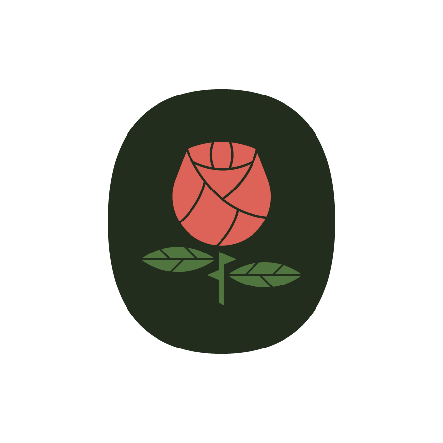 Rose logo design by logo designer Nathan Holthus for your inspiration and for the worlds largest logo competition