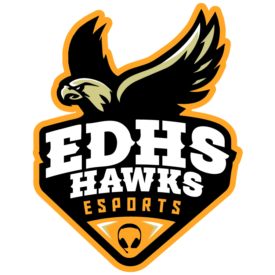 EDHS Hawks Esports logo design by logo designer Block Designs for your inspiration and for the worlds largest logo competition