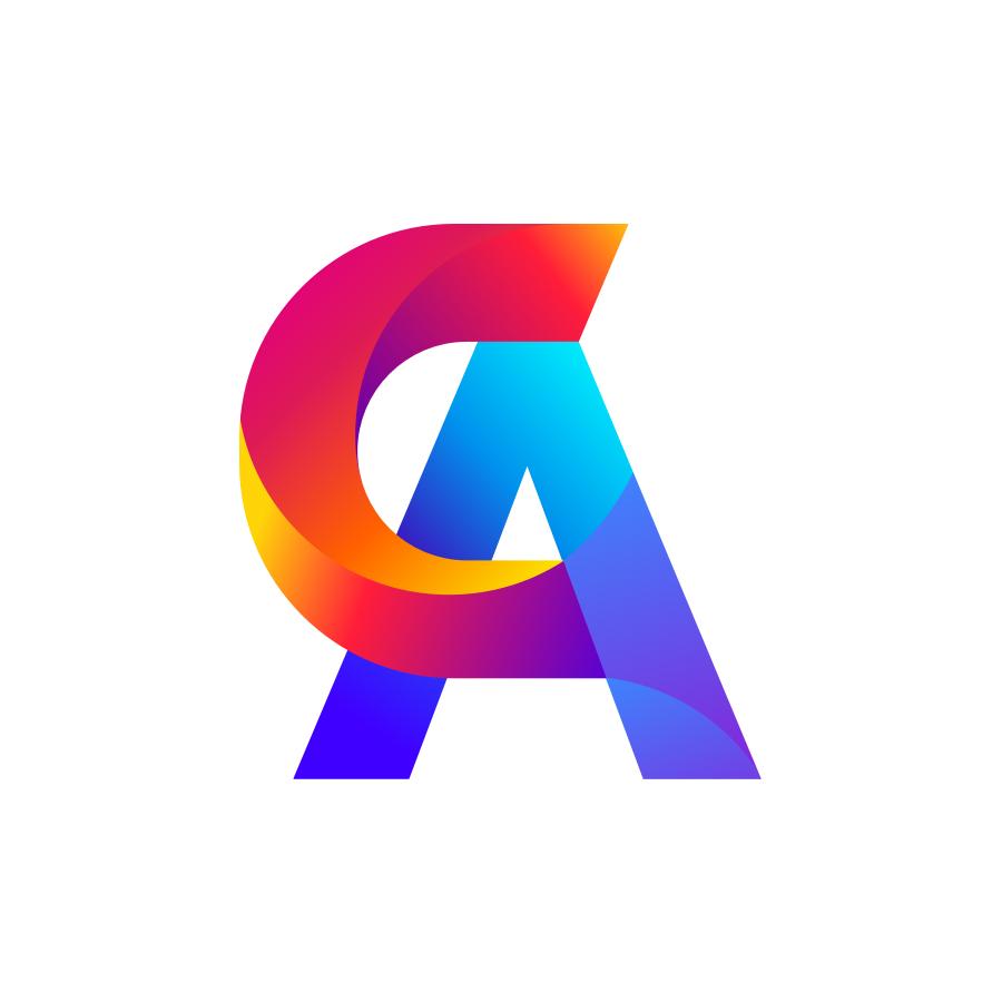 C+A monogram logo design by logo designer Zivile Zickute