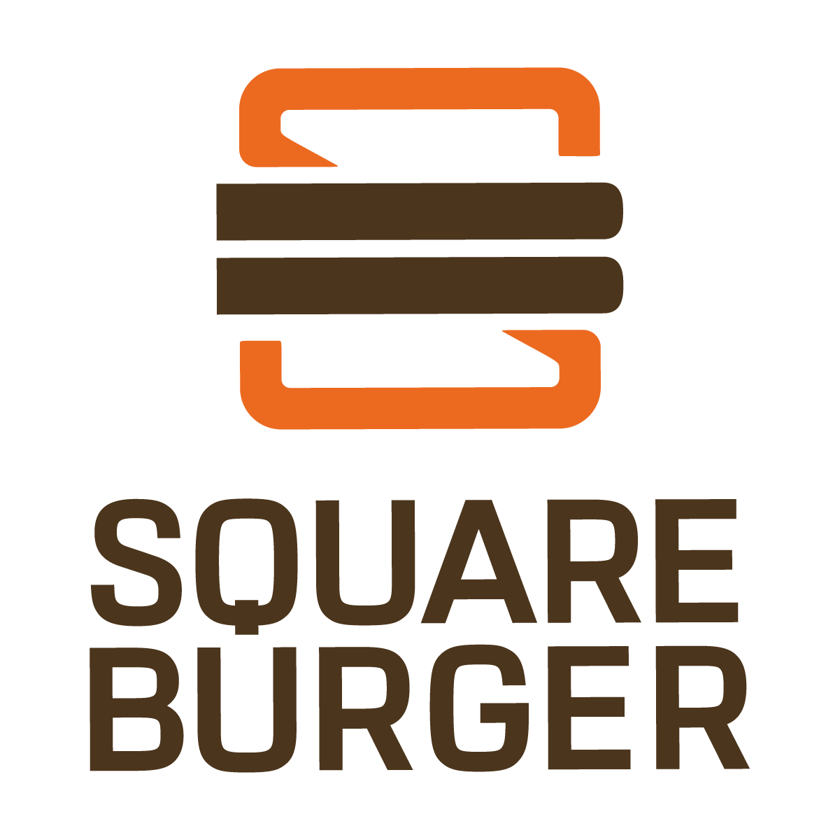 Square Burger vertical lockup