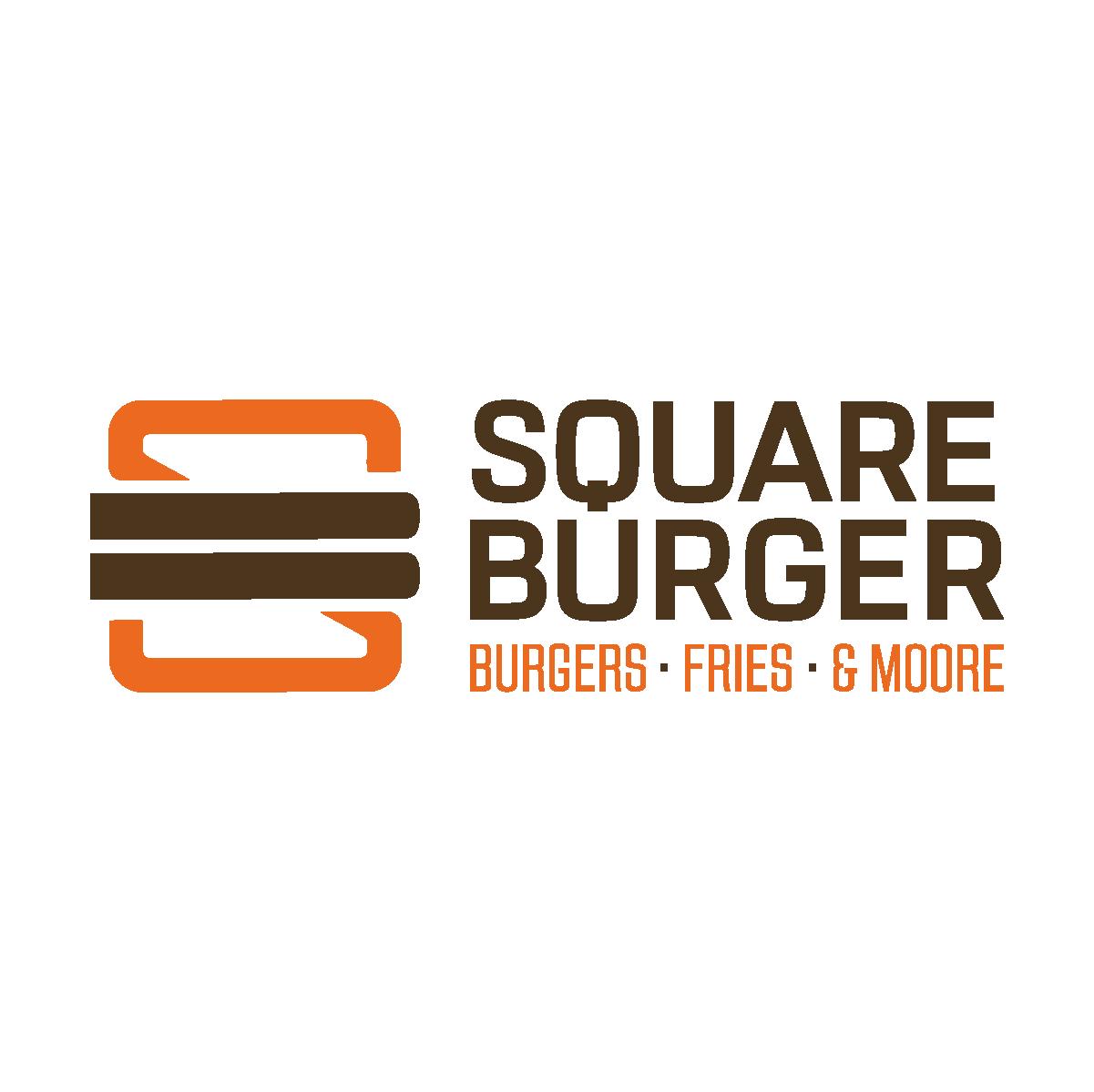 Square Burger horizontal lockup