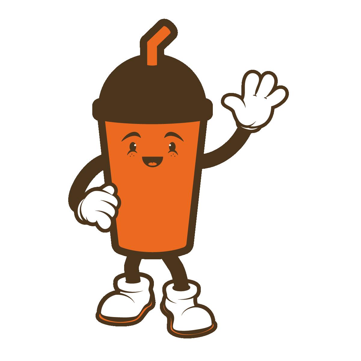 Square Burger Shake Mascot