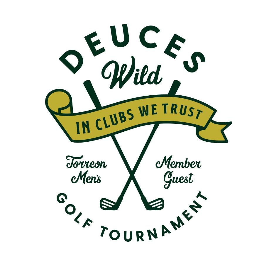 Deuces Wild Golf & Poker Tournament logo design by logo designer Smidge Design Studio