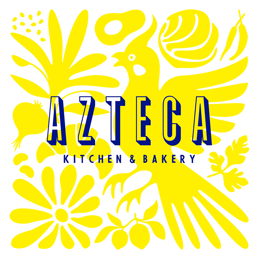 Azteca Kitchen & Bakery logo design by logo designer Smidge Design Studio