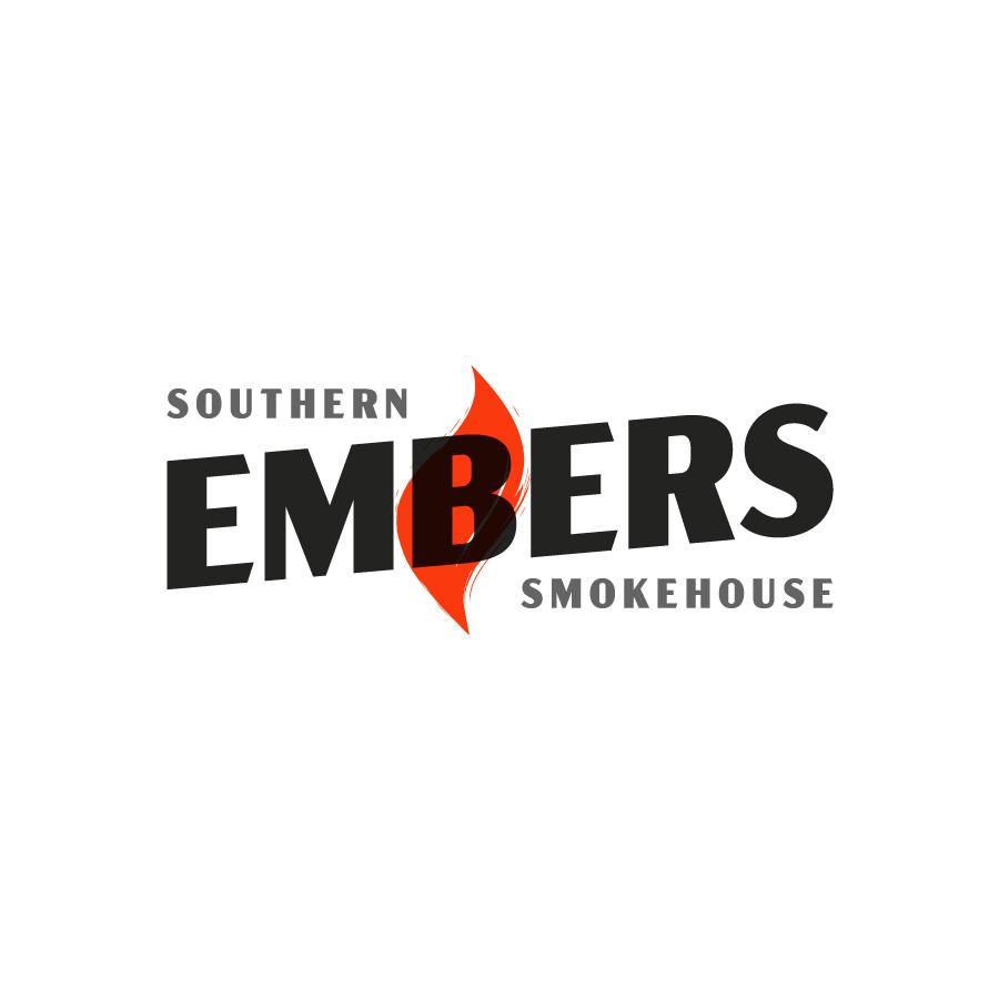 Embers Southern Smokehouse logo design by logo designer Brett Lair