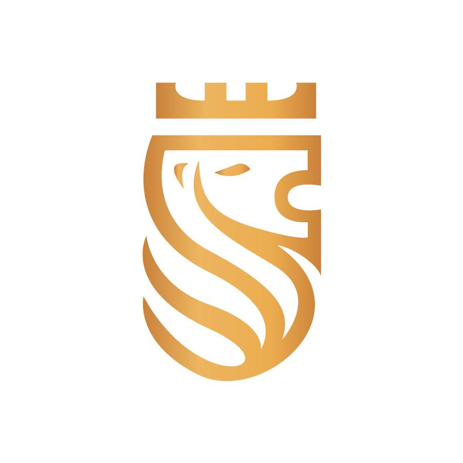 King Tiger Monogram Monoline Logo