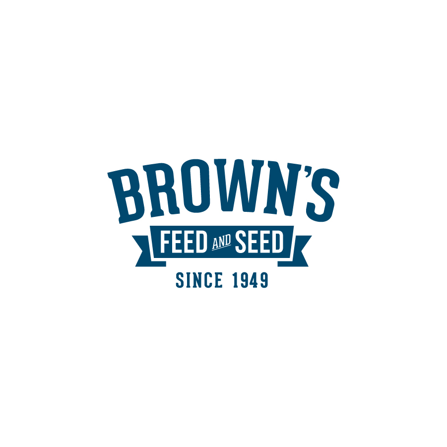 Brown's Feed and Seed logo design by logo designer Erica Westerfield