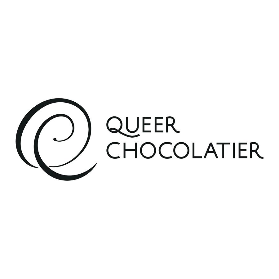 Queer Chocolatier Secondary Lockup logo design by logo designer Studio 165+