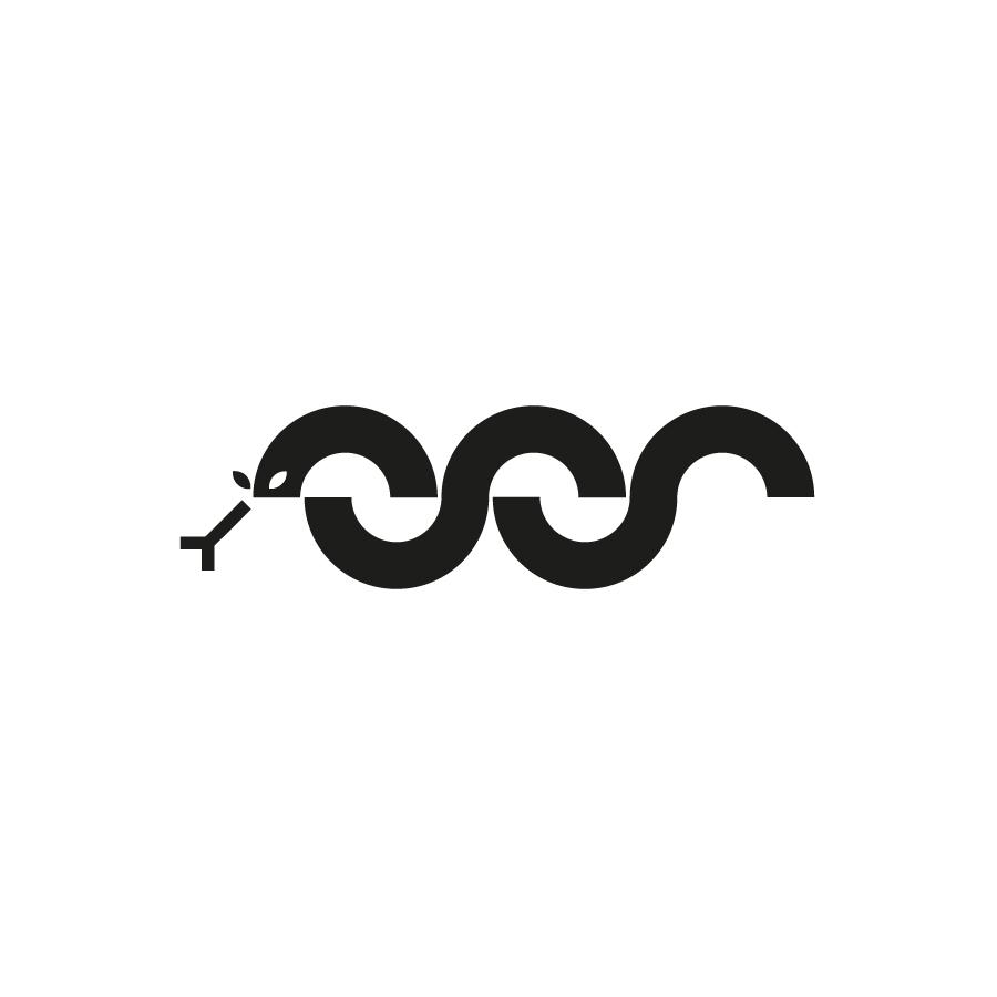 Snake logo design by logo designer vacaliebres