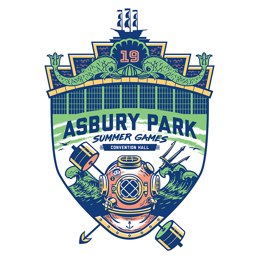 Asbury Park Summer Games Badge
