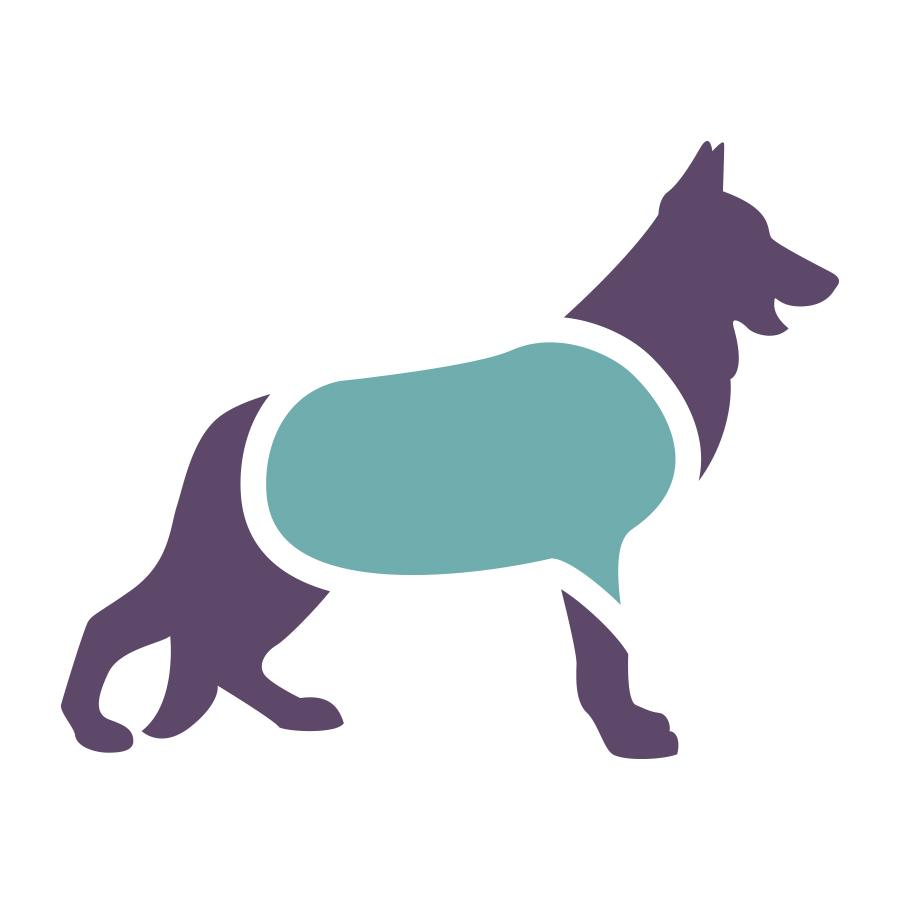 Canine Seizure Alert Logo Mark Concept