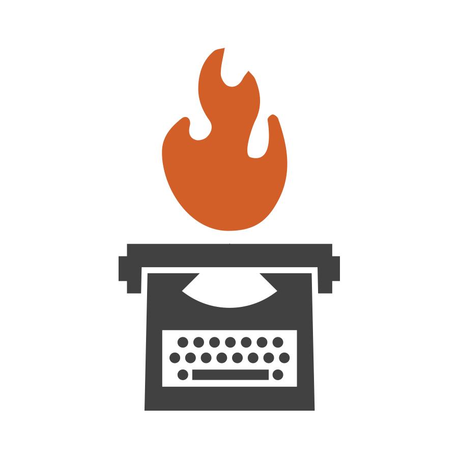 Typewriter Flame logo design by logo designer Jason Barry