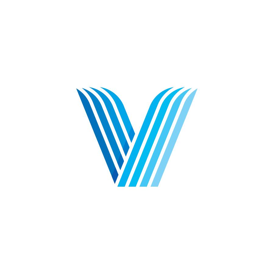 V logo design by logo designer Sean Ford