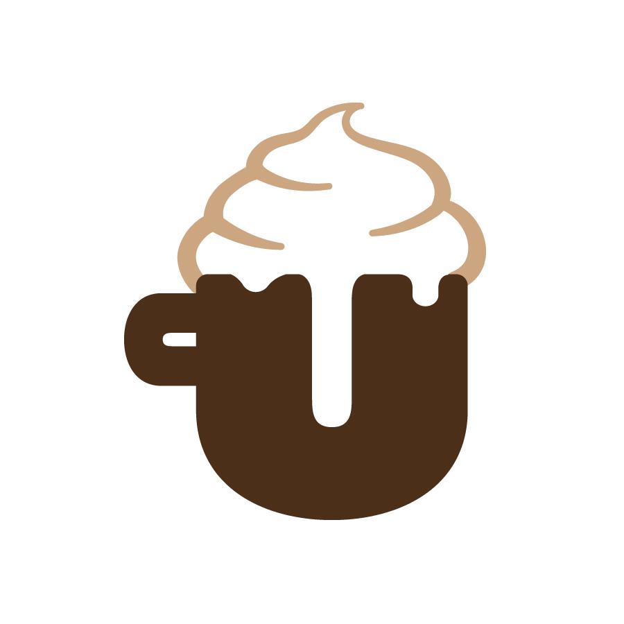 Un Colpo Italian Cafe Brandmark logo design by logo designer Juliana Ratchford Design