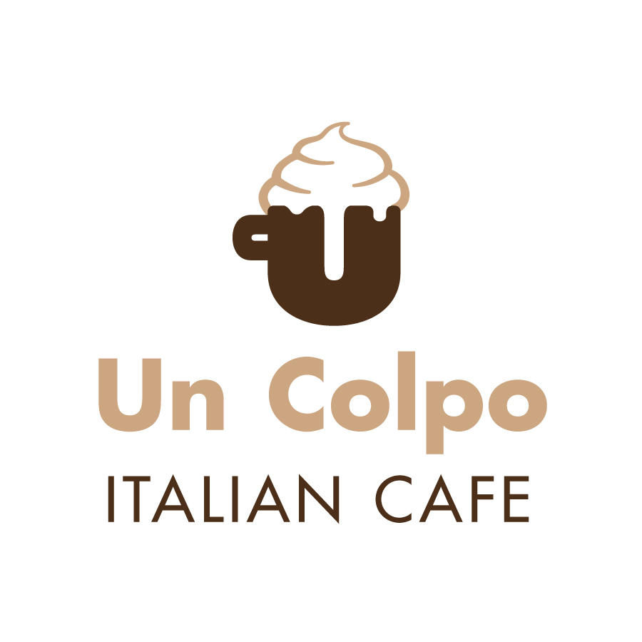 Un Colpo Italian Cafe Signature logo design by logo designer Juliana Ratchford Design