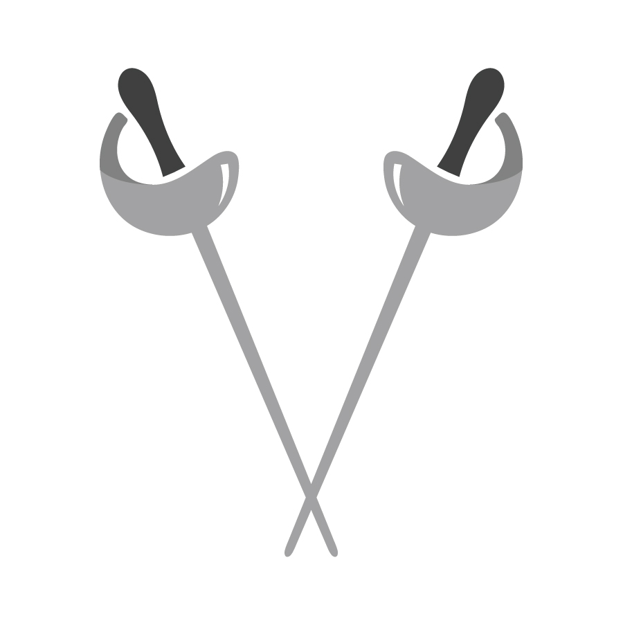 Vanderpool Fencing Academy Brandmark logo design by logo designer Juliana Ratchford Design