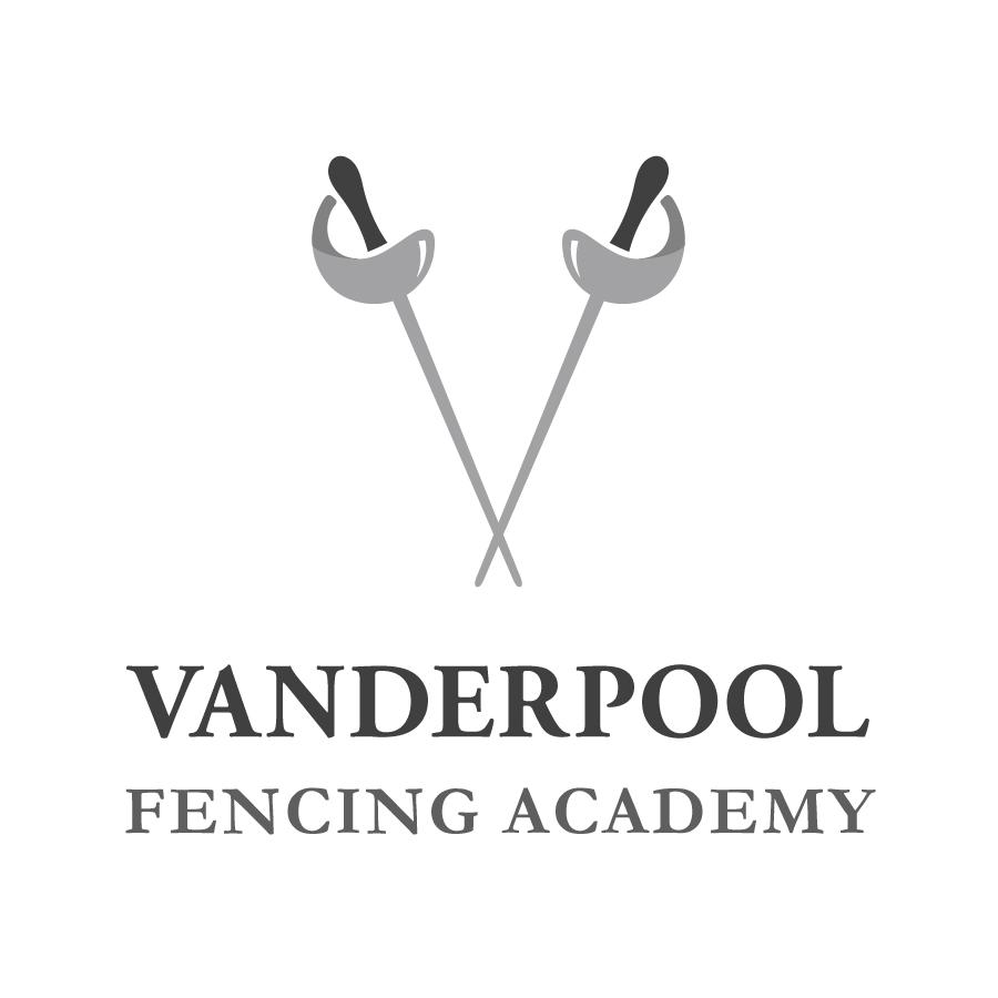 Vanderpool Fencing Academy Signature logo design by logo designer Juliana Ratchford Design