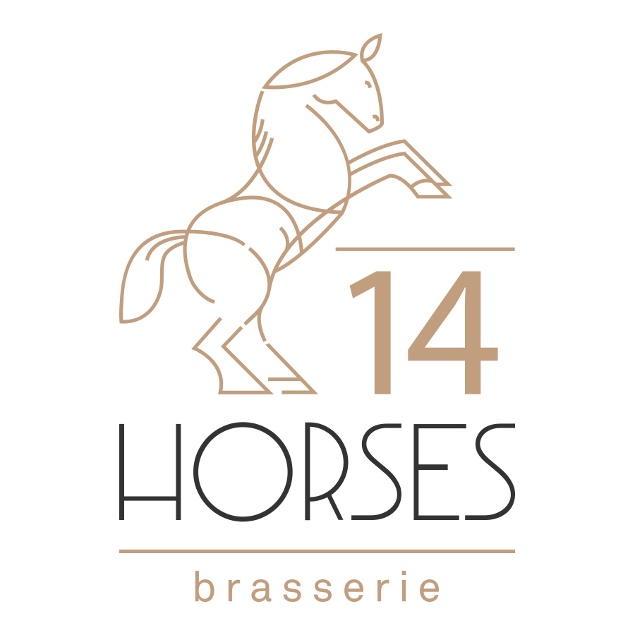 14Horses brasserie logo logo design by logo designer Old Rabbit Design for your inspiration and for the worlds largest logo competition