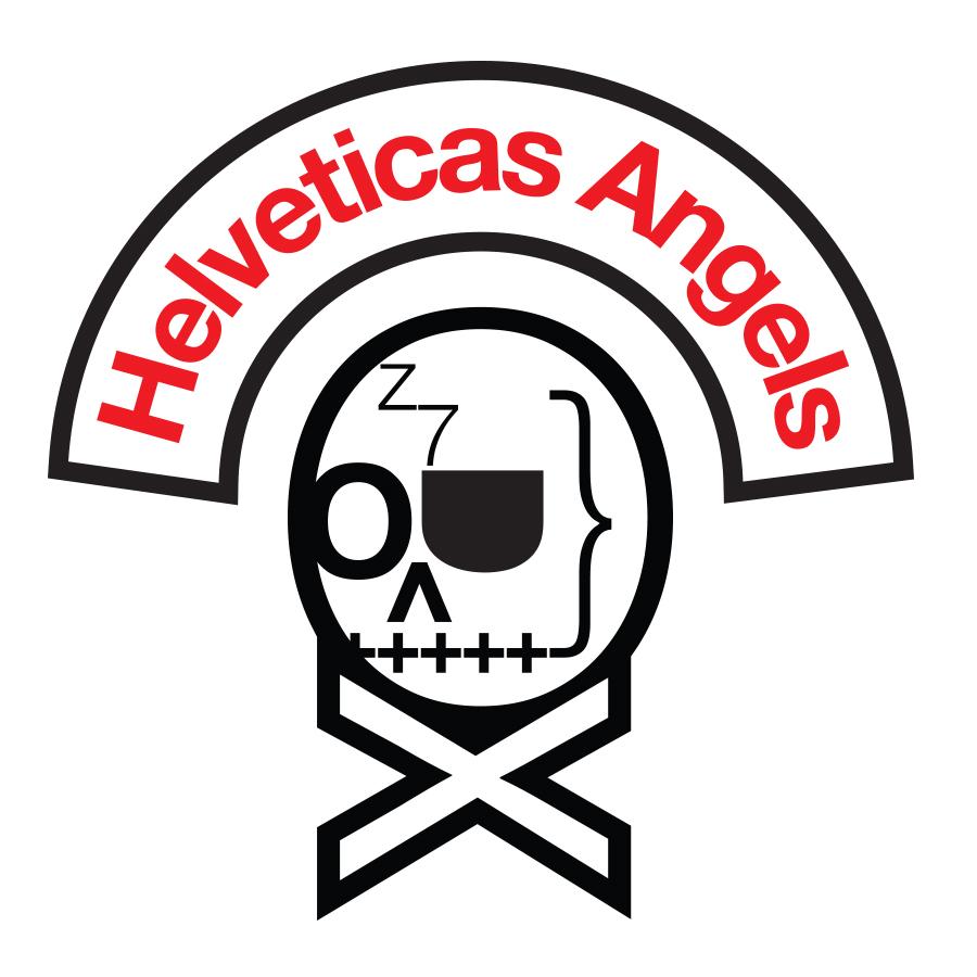 HelveticasAngelsBikerLogo