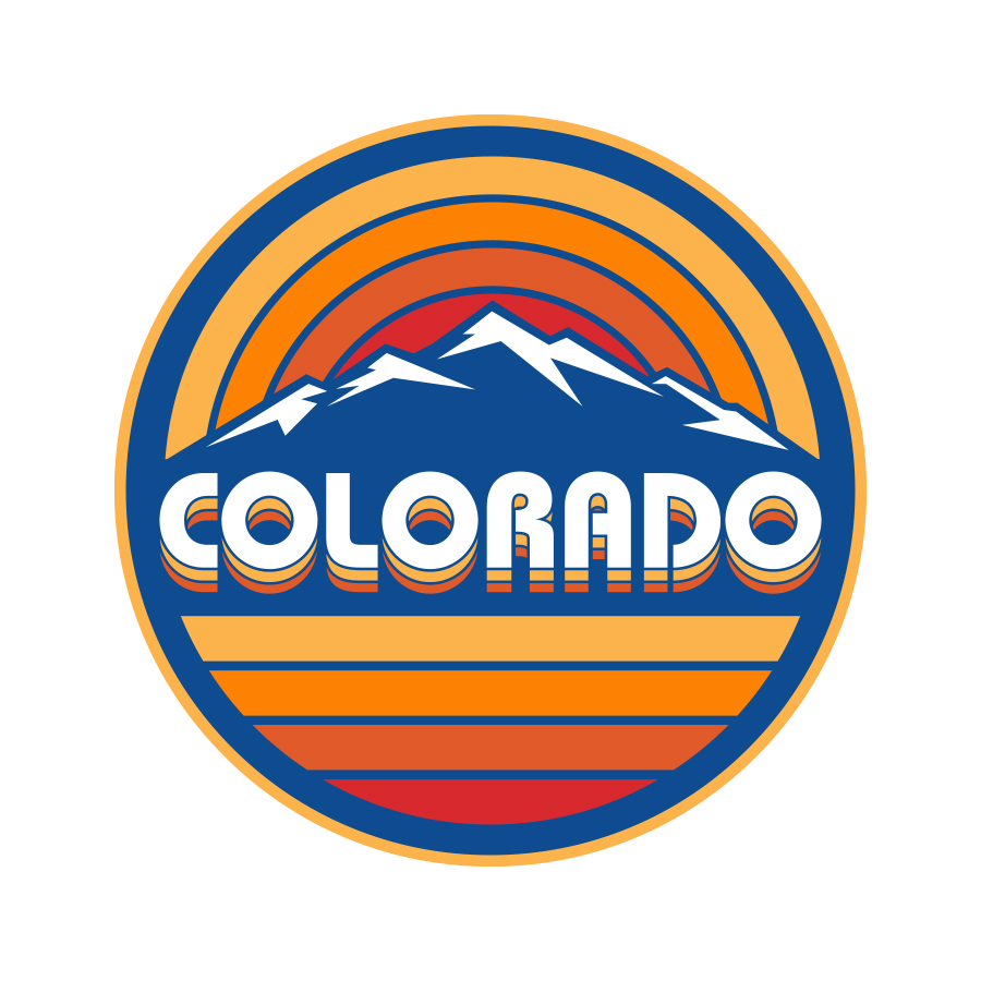 Colorado Retro Sunset Badge logo design by logo designer Lifestyles Creative for your inspiration and for the worlds largest logo competition
