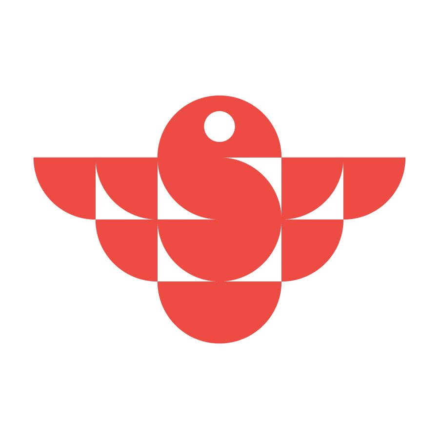 Geometric bird ( Letter S )