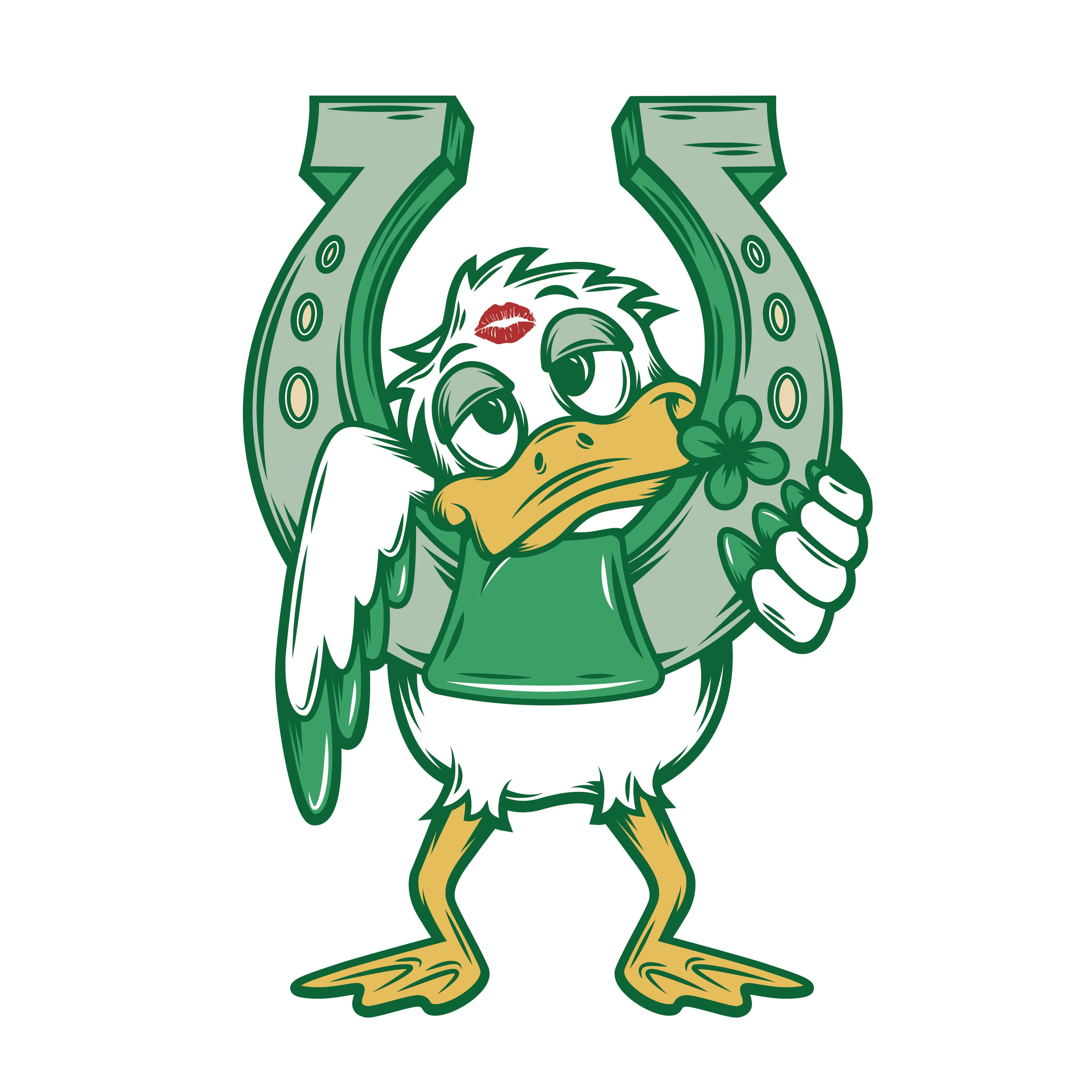 Luck Duck Lager Mascot