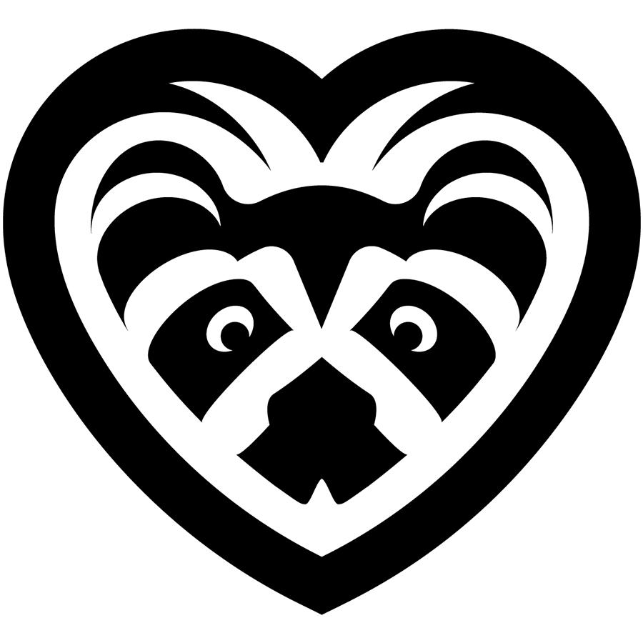 Raccoon love logo-