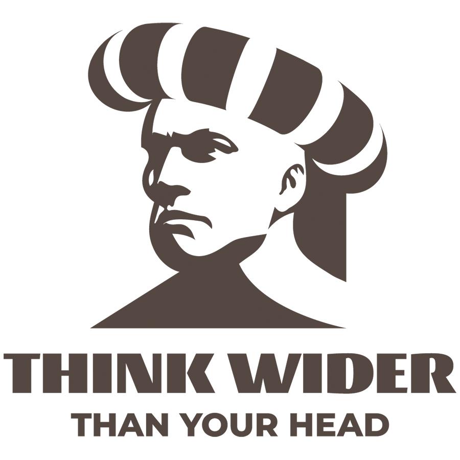 Think wider logo
