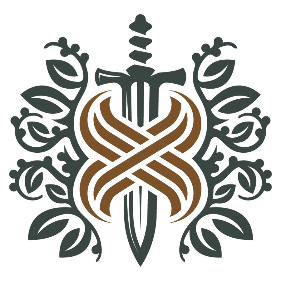 The letter X and the sword logo