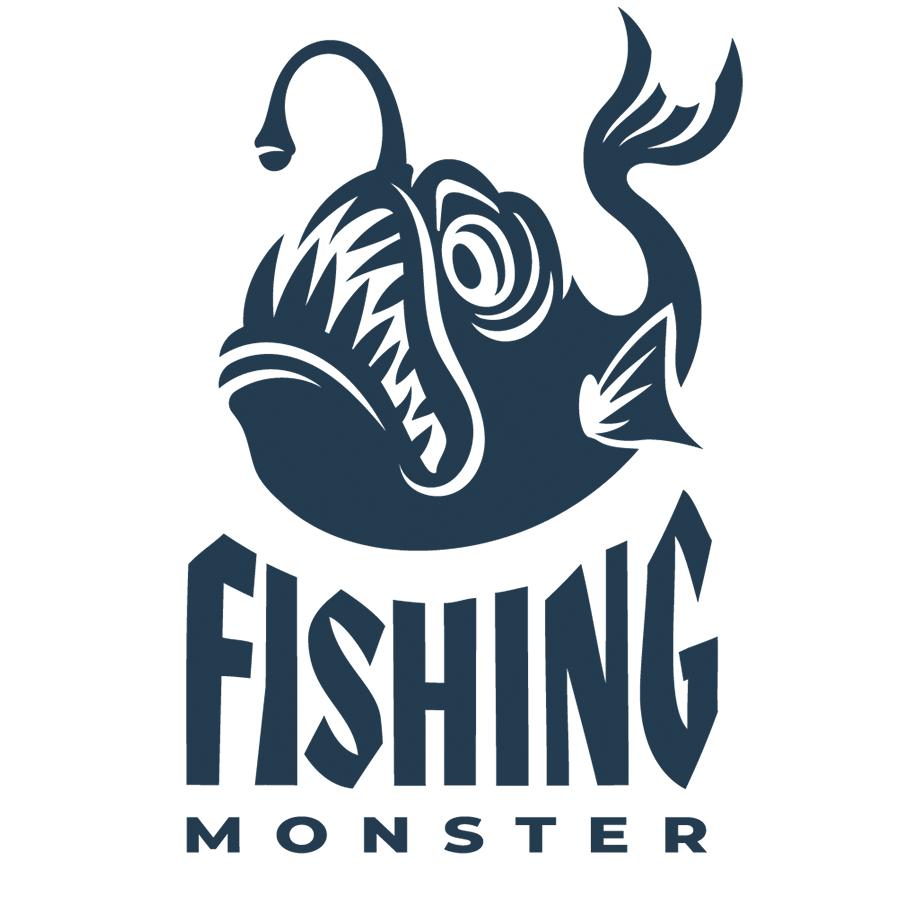 Fishing monster logo