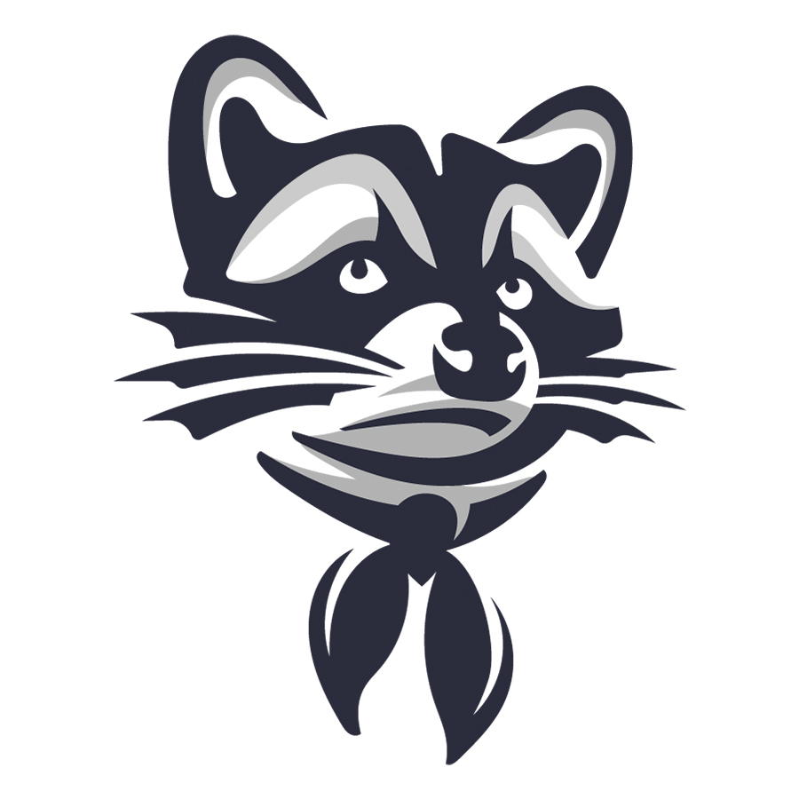 Raccoon Logo logo design by logo designer Dmitriy Dzendo for your inspiration and for the worlds largest logo competition