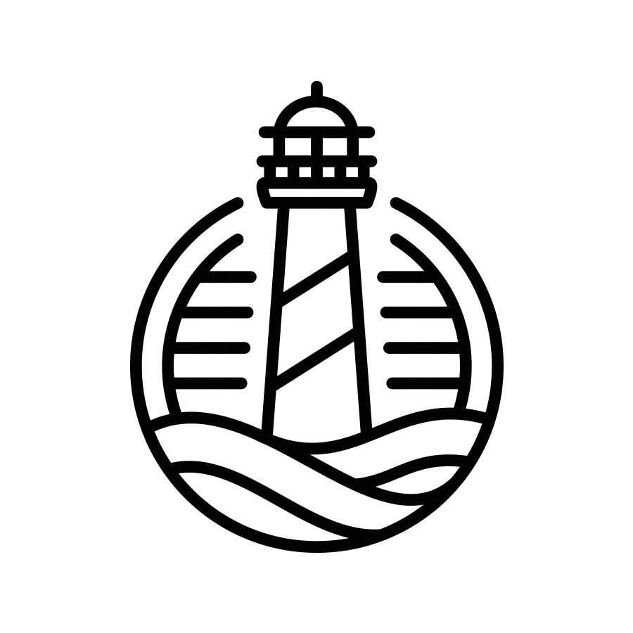 Lighthouse Line Art