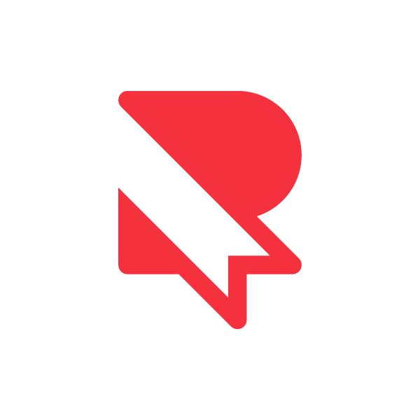 Ribbon Letter R Logo