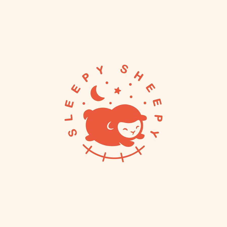 Sleepy Sheepy logo design by logo designer Yana Uglitskikh for your inspiration and for the worlds largest logo competition