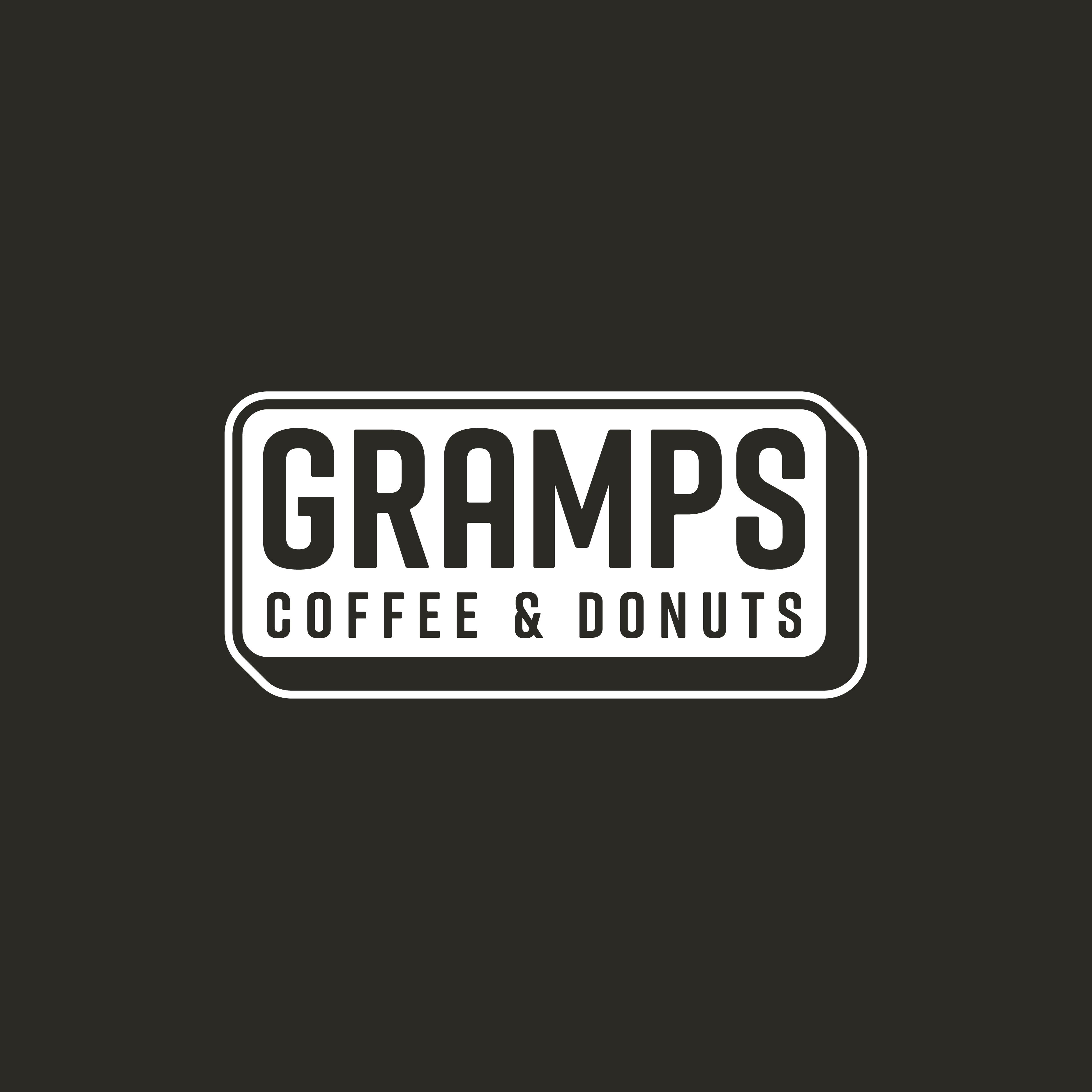 Gramps Sign/Wordmark (Black Background)