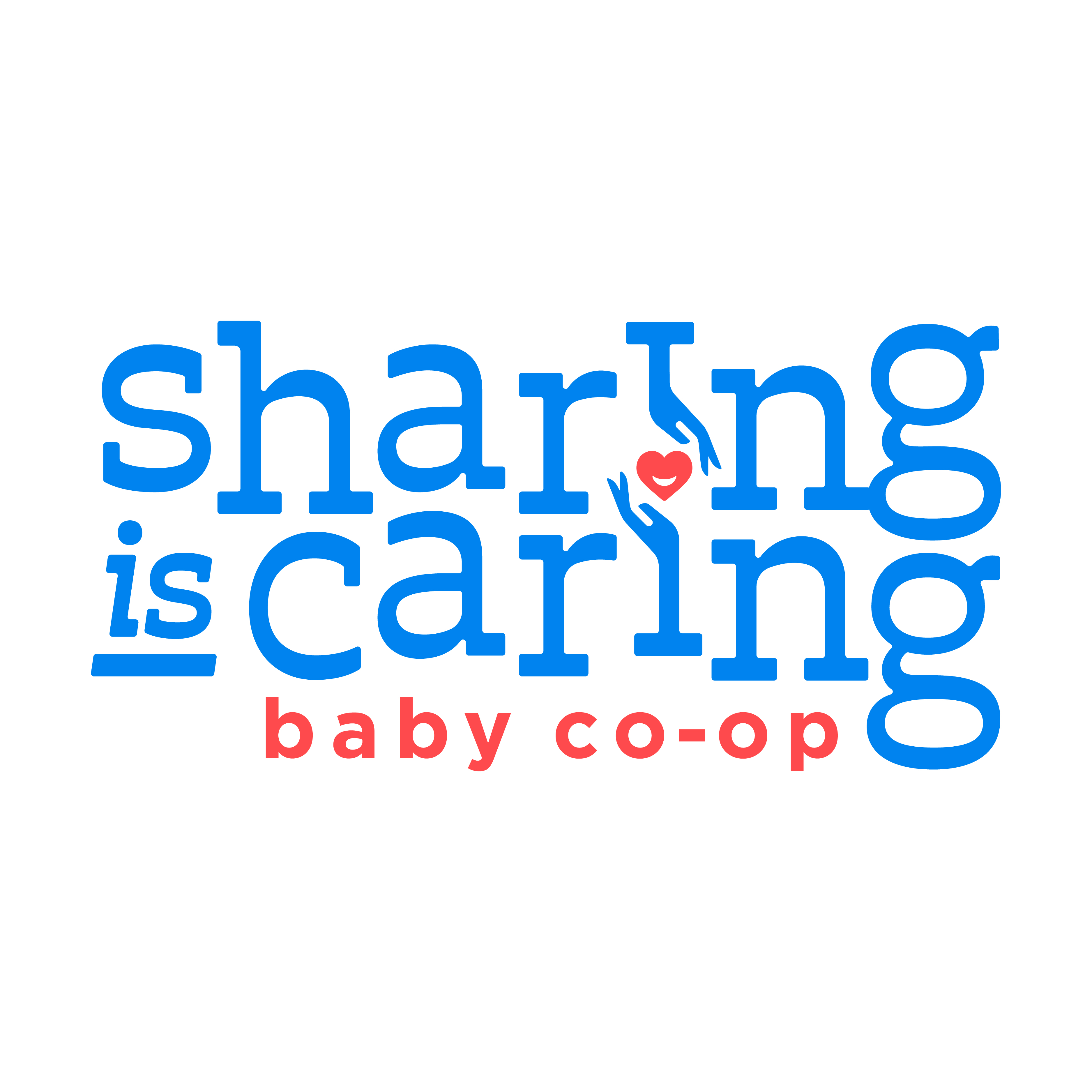 Sharing is Caring Logo Concept
