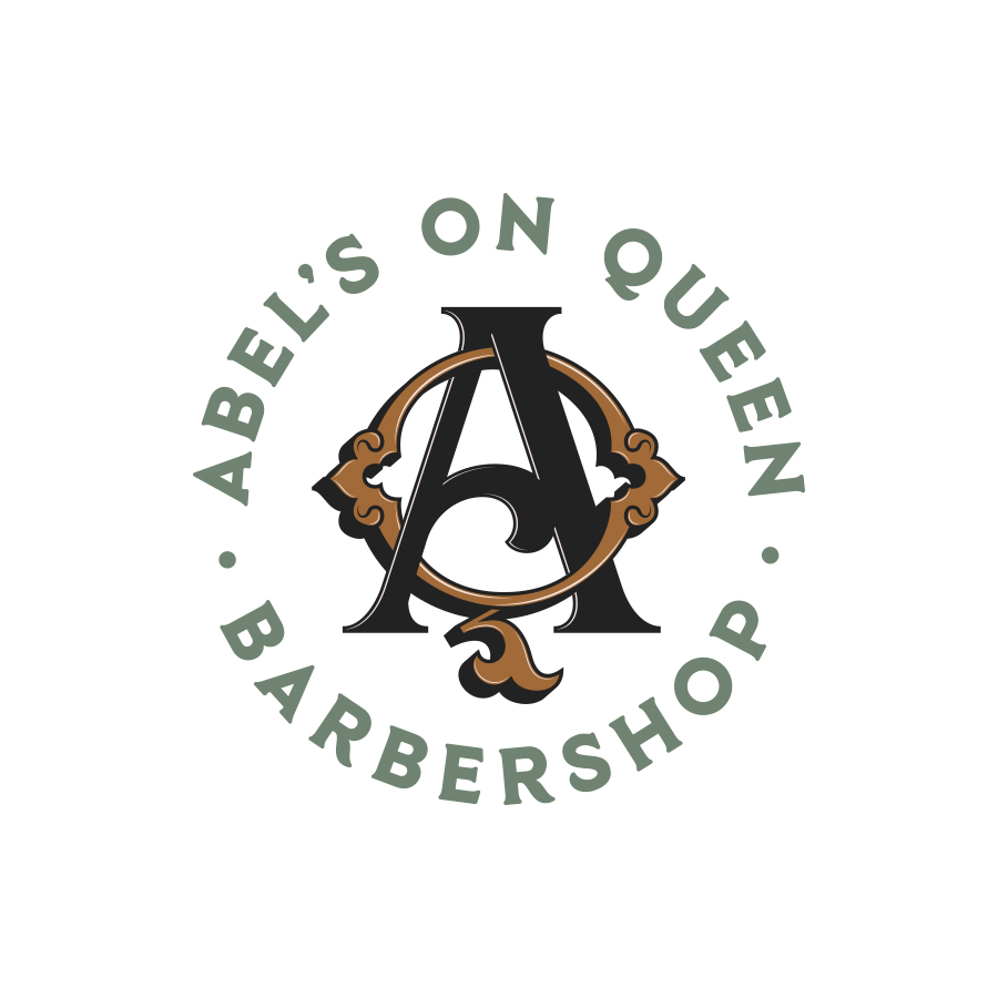Abel's On Queen Barbershop Monogram