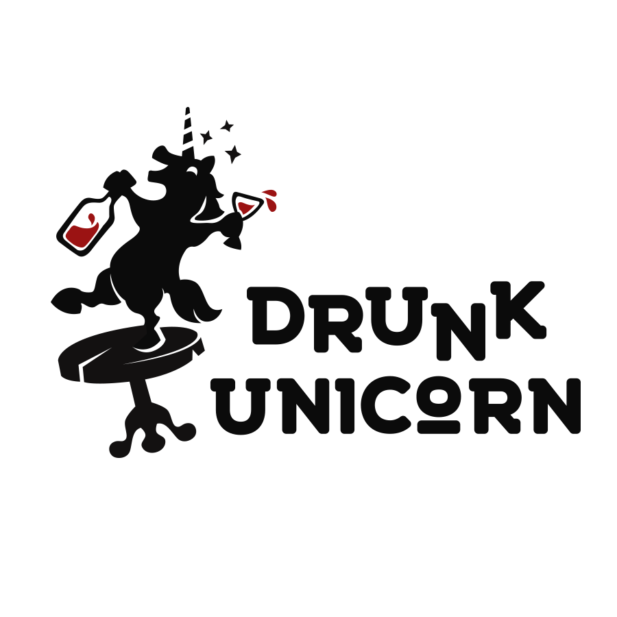 Drunk unicorn logo design by logo designer AndriiKovalchuk for your inspiration and for the worlds largest logo competition
