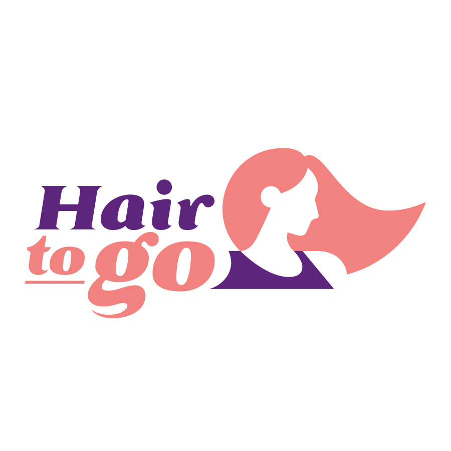 Hair to Go logo design by logo designer Hearted Design & Strategy for your inspiration and for the worlds largest logo competition